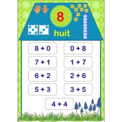 Numération - maisons des nombres de 1 à 10