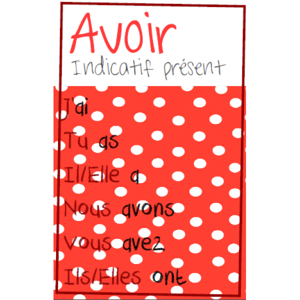 Affiches verbes pois indicatif pr sent for Indicatif 86