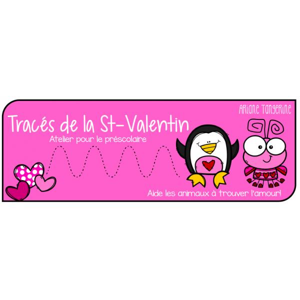 Tracés de la Saint-Valentin - Atelier préscolaire