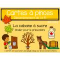 Cartes à pinces - Cabane à sucre (1 à 15)