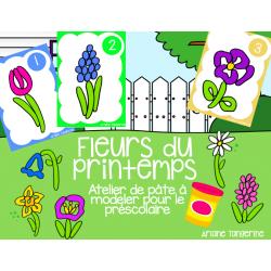 Fleurs - Atelier de pâte à modeler printemps
