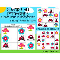 Sudoku préscolaire - printemps/coccinelle