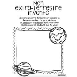 Mon extra-terrestre inventé - activité de dessin