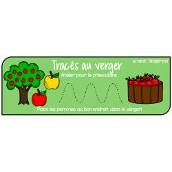 Tracés pommes - atelier préscolaire