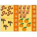 Cartes à pinces automne  (1 à 10)