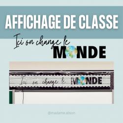 Affichage de classe - Ici on change le monde