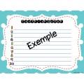 Cartes à tâches-Sing. et pluriel dans une phrase