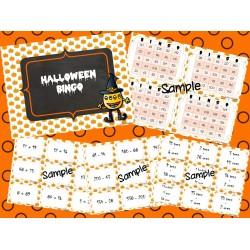 Halloween Bingo - Mathematics