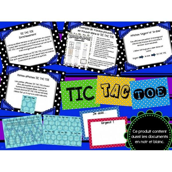 Enrichissement - Mur du TIC TAC TOE
