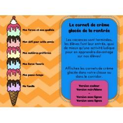 Le cornet de crème glacée de la rentrée