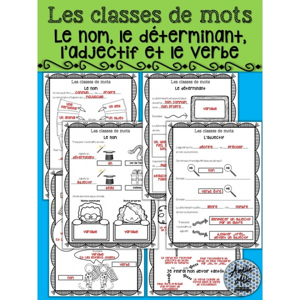 Les classes de mots - Lexique français
