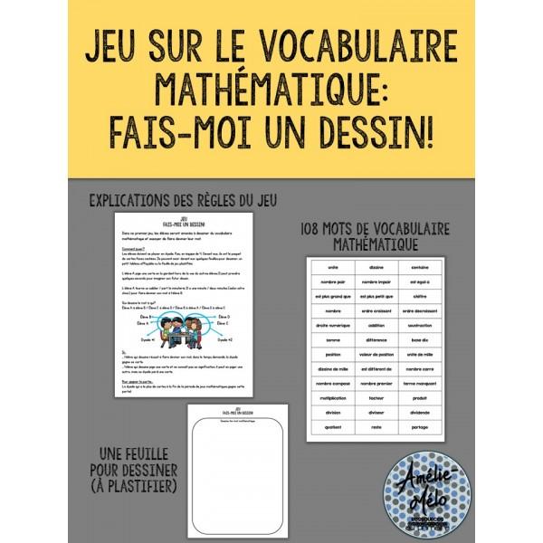 Jeu sur le vocabulaire mathématique