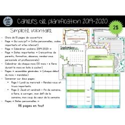 Cahier de planification 2019-2020 Simplicité