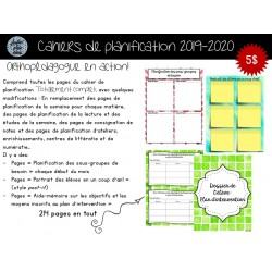 Cahier de planification 2019-2020 Ortho en action