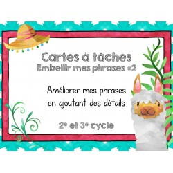Cartes à tâches - Embellir les phrases 2