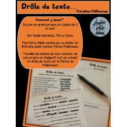 Drôle de texte - Version Halloween