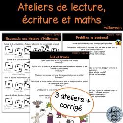 Ateliers d'Halloween - Écriture, lecture et maths