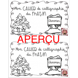◤ Cahier de calligraphie - Janvier ◢
