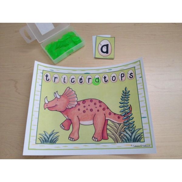 Dinosaures: Jeu des lettres