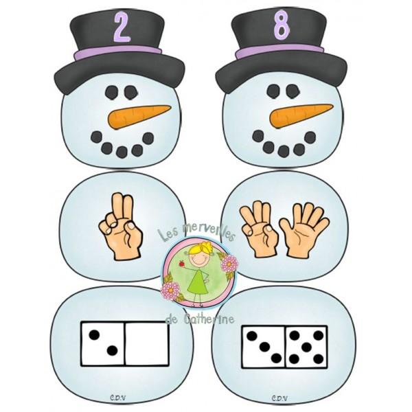 Hiver: Les bonshommes de neige
