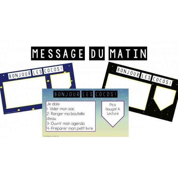 Messages du matin - Modèles de l'espace