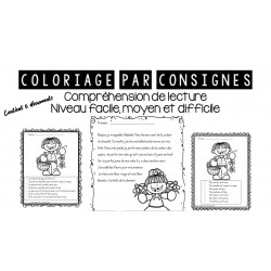 Coloriage par consignes (lecture)