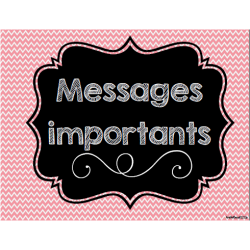 Messages importants