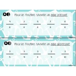 Ordonner des fractions- Cartes à tâches