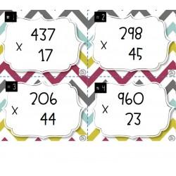 Multiplication d'un nombre naturel à 3 chiffres