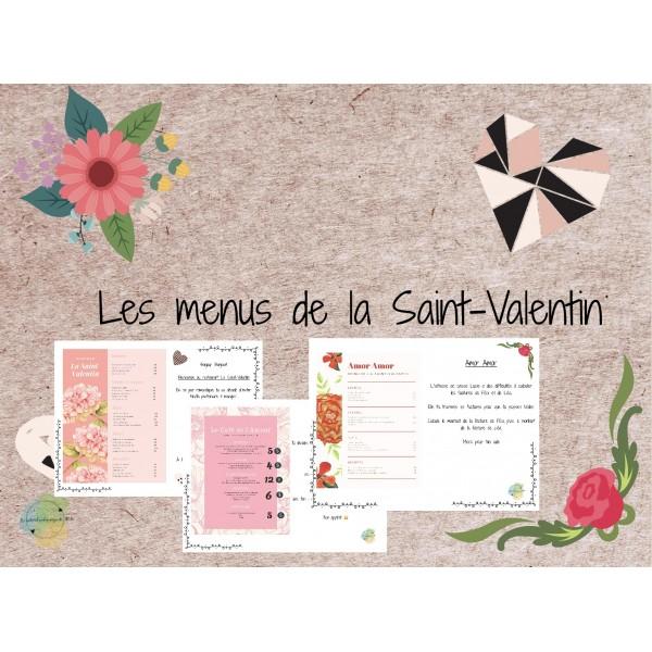 Les menus de la Saint Valentin $ et €