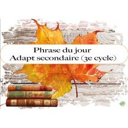 Phrases du jour (adapt sec 3e cycle)