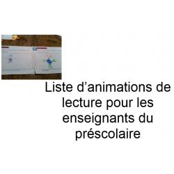 Liste d'animations de lecture préscolaire