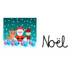 mots de Noël (calligraphie cursive)