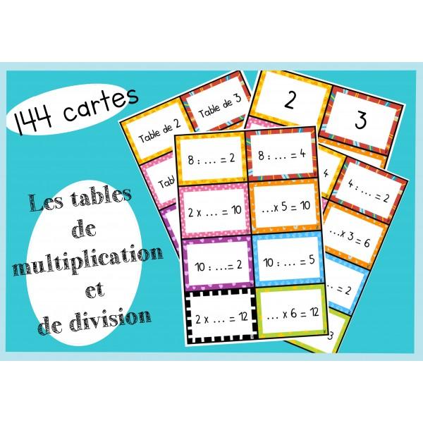 Les tables de multiplication et de division