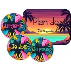 Plan de travail tropical