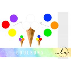 Activité COULEURS - Cornet de glace