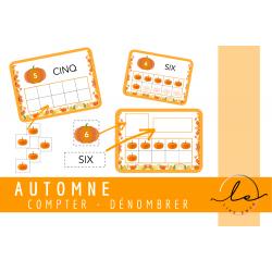 Activité AUTOMNE - compter/dénombrer_CITROUILLE