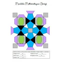 Mandala Mathématiques 3