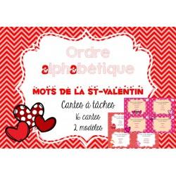Cartes à tâches de la St-Valentin