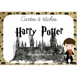 Cartes à tâches Groupe du nom Harry Potter