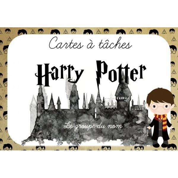 Cartes à tâches Groupe du nom Harry Potter