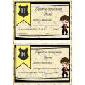 Diplôme de lecture Harry Potter