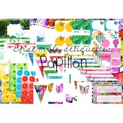 Ensemble Étiquettes Papillon