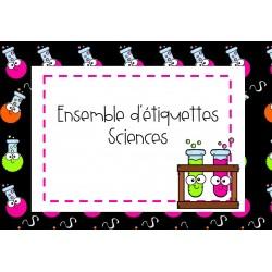 Ensemble Étiquettes  de sciences