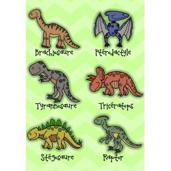 Coin dinosaure affiche