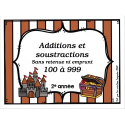 additions et soustractions sans e&r