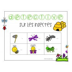 Détective sur les insectes