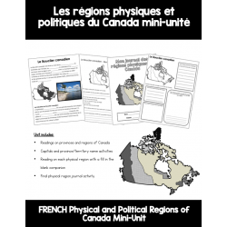 Les régions physiques du Canada mini-unité