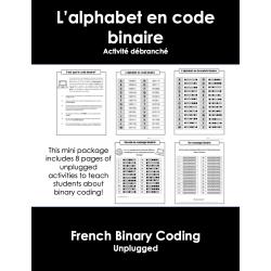 Le codage binaire - Activité de code débranché