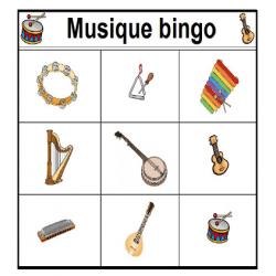 Musique Bingo